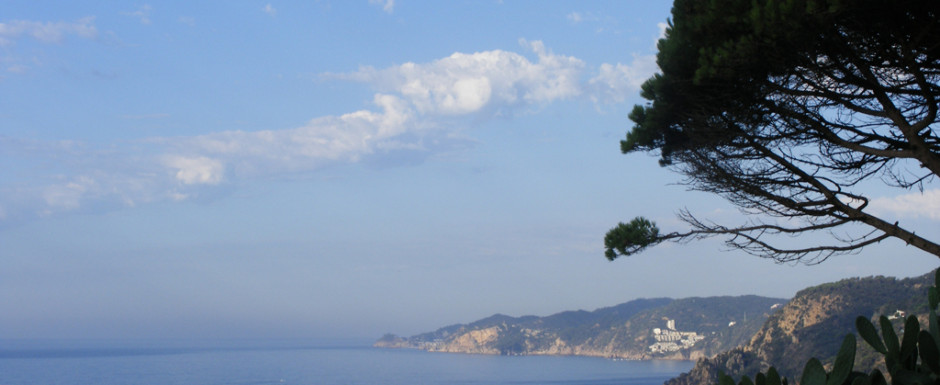 Talk about a front line house - the view of the Mediterranean from our holiday home