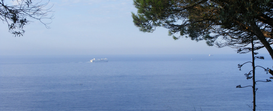 The view from our holiday house in Sant Feliu de Guixols