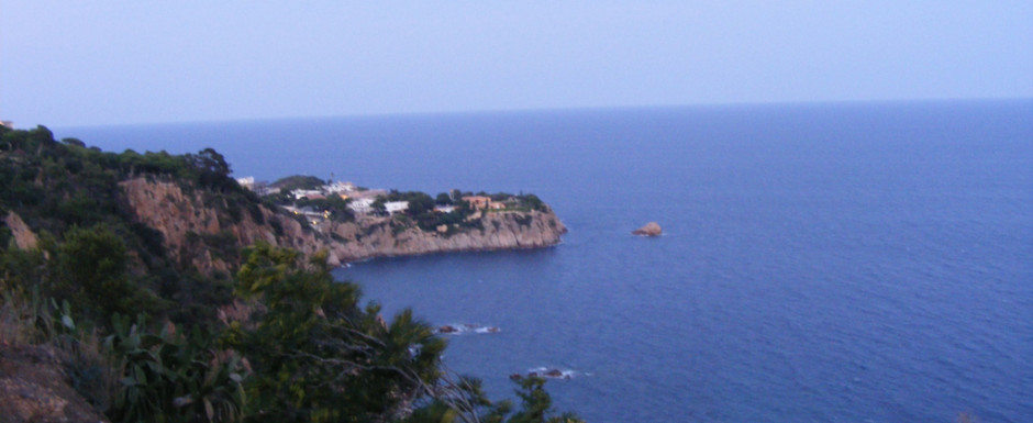 A first line view from the garden of our vacation rental in sant feliu de guixols