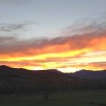 Sant feliu de guixols in november - costa brava sunset