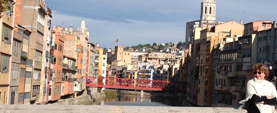 Sant feliu de guixols in november - girona bridge